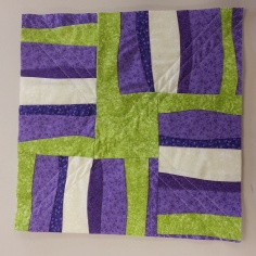 cut, pieced, quilted!