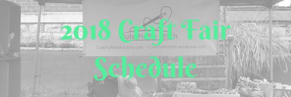 2018 craft fairs