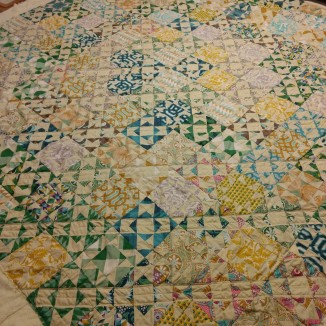Quilting in the diagonals